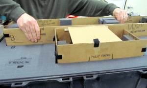 packing a scale model